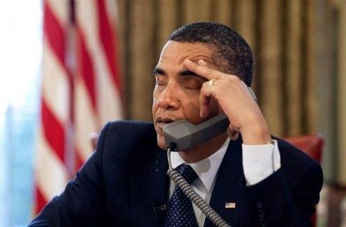 obama sleepy phone