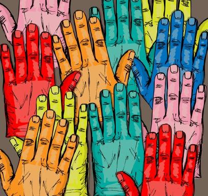 sketch-of-volunteer-group-raising-hands-vector-illustration_zy3Q8f_O_L
