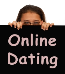 Online Dating Sign Showing Romance